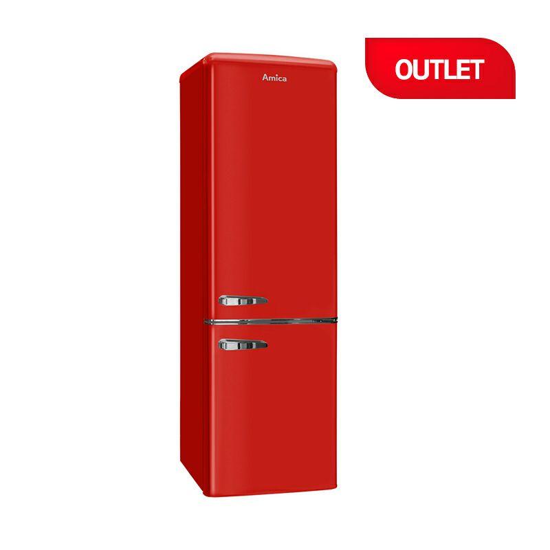 Amica kombinirani retro crveni hladnjak FK2965.3RAA (outlet uređaj)