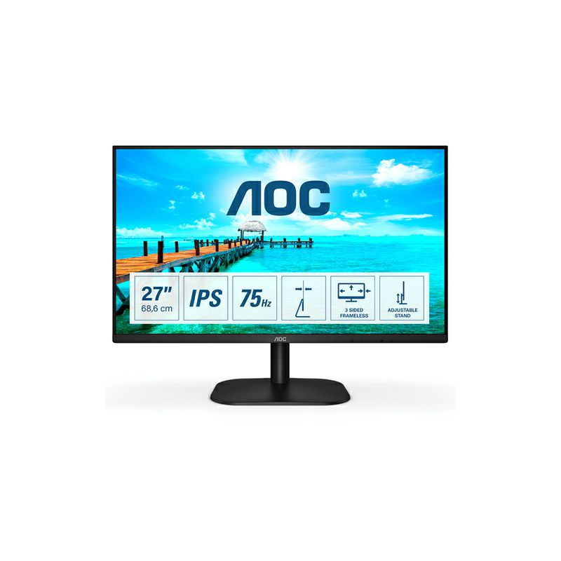 """AOC LED IPS 27"""" 27B2DA, VGA, DVI, HDMI, zvuč.,75Hz"""