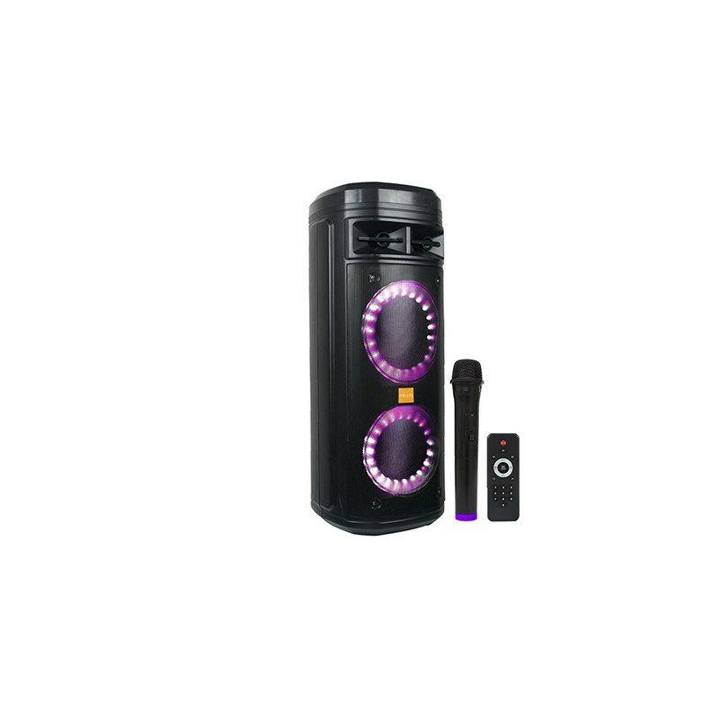 Bluetooth zvučnik, karaoke MIKADO MD-220KP, bežični mikrofon, crni