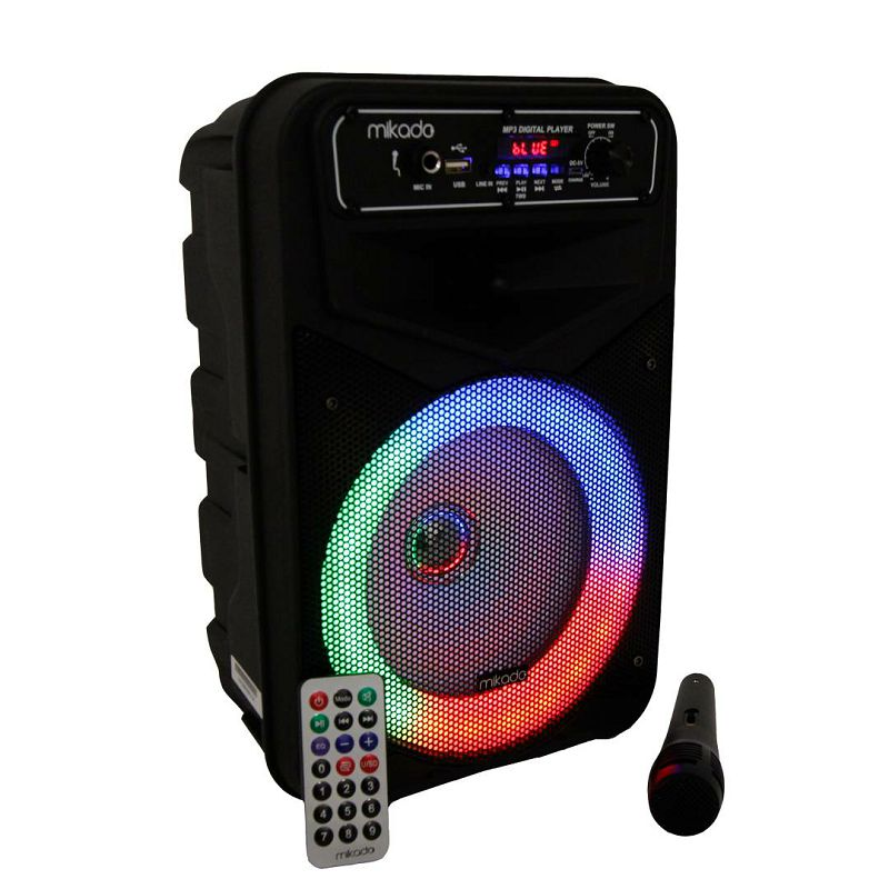 Bluetooth zvučnik, karaoke MIKADO MD-802KP, mikrofon, crni