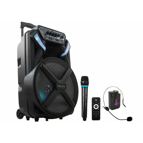 Bluetooth zvučnik, karaoke MIKADO MD-82KP, mikrofon, daljinski upravljač, bežični mikrofon za glavu