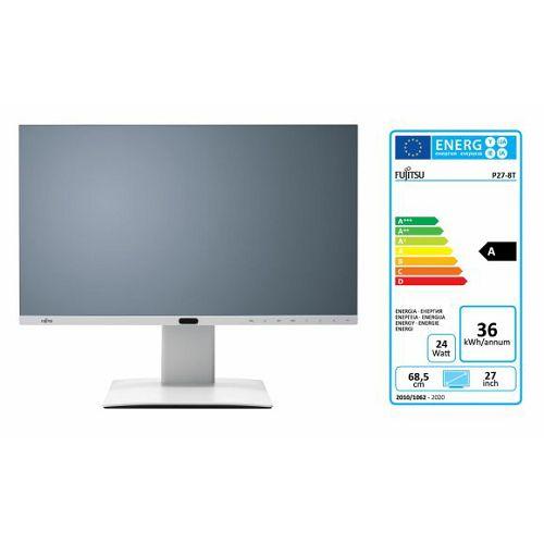 Monitor Fujitsu P27-8 TE, HDMI, 2xDP, DVI, 4x USB3.1 QHD