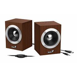 Genius zvučnici SP-HF280, 6W, USB+3,5mm, drveni