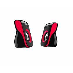 Genius zvučnici SP-Q180, 6W, USB + 3,5mm, crveni