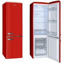 Samostojeći hladnjak Amica FK2965.3RAA, A++, kombinirani, retro, crveni