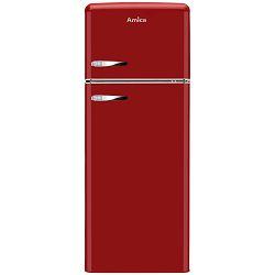 Samostojeći hladnjak Amica KGC15630R, A++, kombinirani, retro, crvena