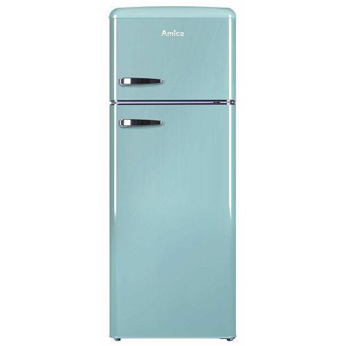 Samostojeći hladnjak Amica KGC15632T, A++, kombinirani, retro, tirkizno plavi