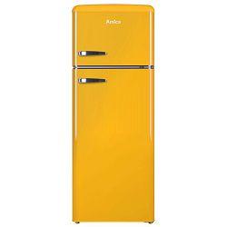 Samostojeći hladnjak Amica KGC15633Y, A++, kombinirani, retro, žuti