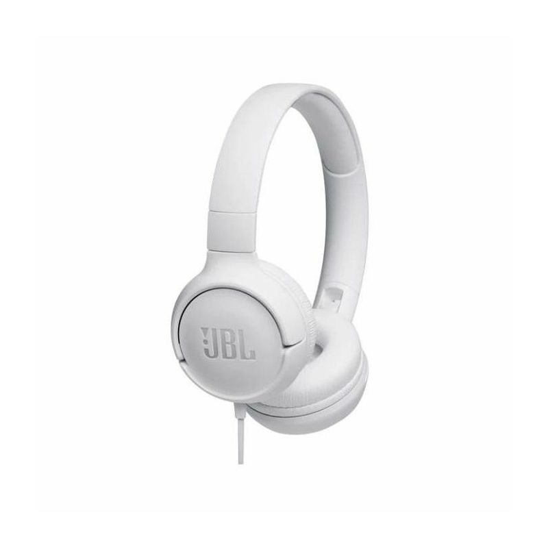 JBL Tune 500 naglavne slušalice s mikrofonom, bijele