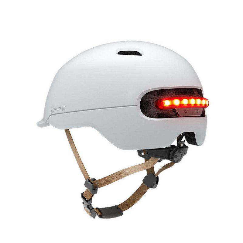 Kaciga Smart4u City Riding Smart Flash Helmet, White, M