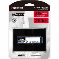Kingston A2000 NVMe 250GB,R2000/W1100, M.2 2280