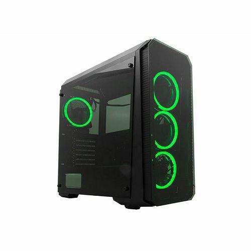 Kućište Rampage Falcon-X, 4 RGB ventilatora, RGB kontroler, kaljeno staklo, bez napajanja