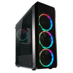 Kućište LC-Power 703B - Quad-Luxx, RGB, crno bez nap.