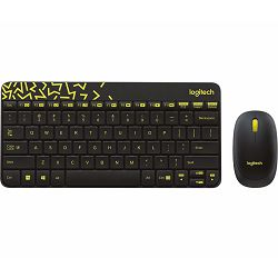 Logitech MK240 bežična tipkovnica i miš, crno-žuta