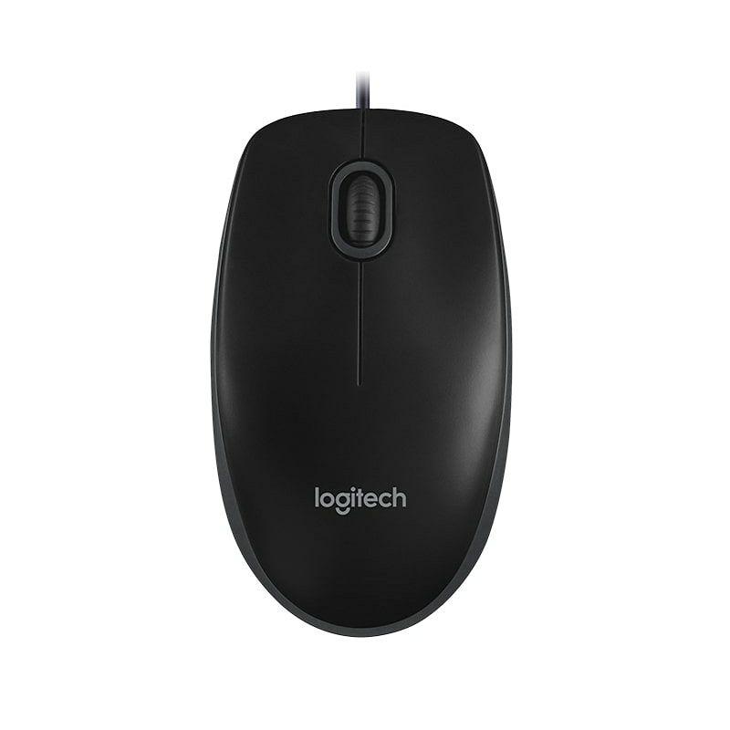 Logitech B100 žičani optički miš, crna