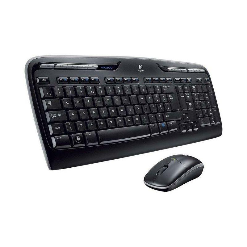 Logitech MK330 bežična tipkovnica i miš, crna