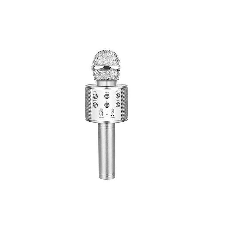 Mikrofon HYTECH HY-XKSP35 za karaoke, srebrni