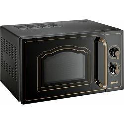 Mikrovalna pećnica Gorenje MO4250CLB, 20 litara, 700 W, gril 800 W, keramičko dno, bez tanjura, crna