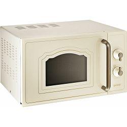 Mikrovalna pećnica Gorenje MO4250CLI, 20 litara, 700 W, gril 800 W, keramičko dno, bez tanjura, boja slonove kosti