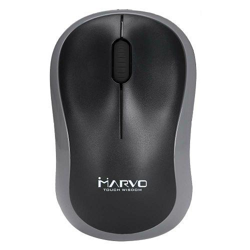 Miš MARVO DWM100GY, bežični, 1000 DPI, crno - sivi