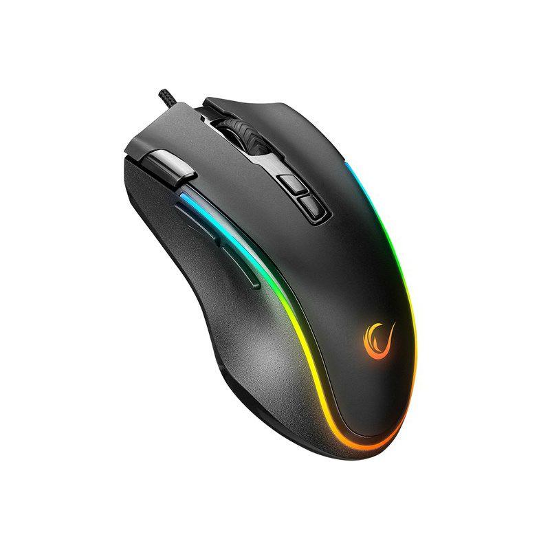 Miš RAMPAGE SMX-G72 Greedy, žičani, RGB, 7200 DPI, crni