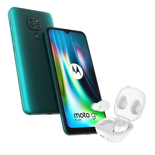 "Mobitel Motorola G9 Play, 6.5"", Dual SIM, 4GB, 64GB, forest green + Bluetooth slušalice"