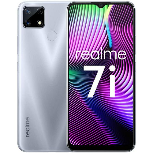 "Mobitel Realme 7i, 6.5"" IPS LCD 90Hz 720 x 1600 px, Dual SIM, 4GB, 64GB, Android 10, sivi"