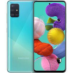 "Mobitel Samsung Galaxy A51 SM-A515F, 6.5"" Super AMOLED 1080 x 2400 px, Dual SIM, 4GB, 128GB, Android 11, plavi"