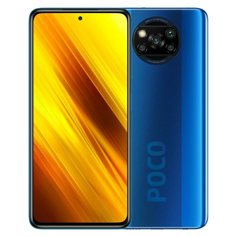 "Mobitel Xiaomi POCO X3, 6.67"" IPS 1080 x 2400 px, Dual SIM, 6GB, 64GB, Android 10, plava - PROMO"