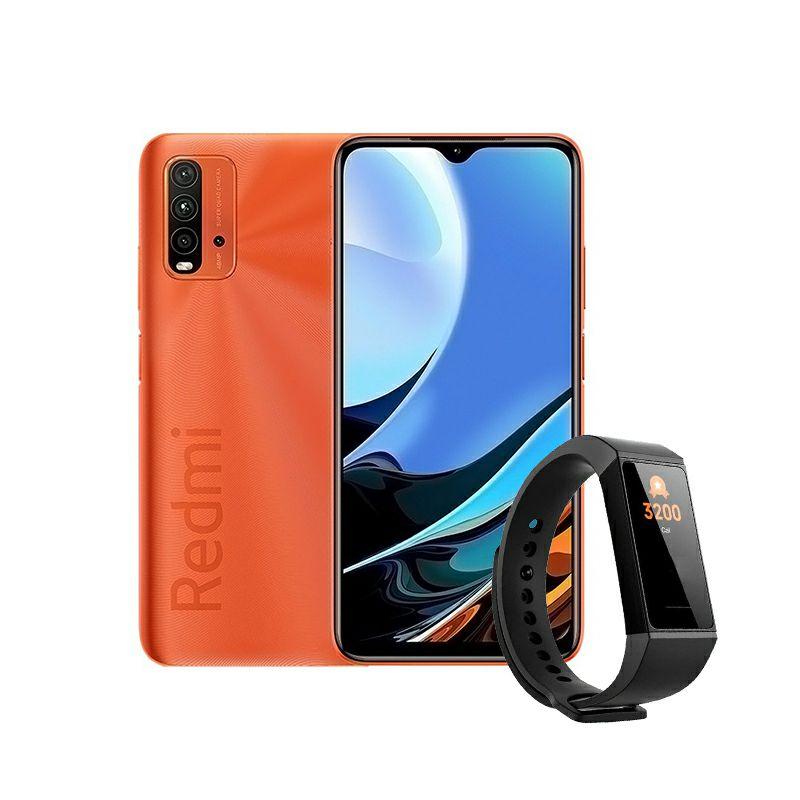 Mobitel Xiaomi Redmi 9T sunrise orange + Pametna narukvica Band 4c + Zamjenski remen