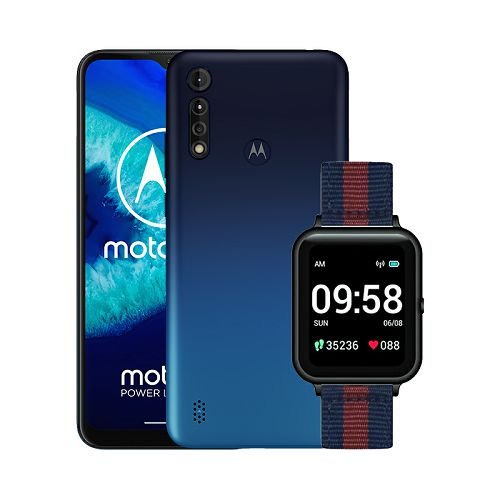 "Mobitel Motorola G8 Power Lite, 6.5"", Dual SIM, 4GB, 64GB, Android 9.0, Royal Blue + Smartwatch Lenovo S2"