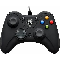 Nacon PC Gaming Controller GC-100XF 2 analog stick, 6 buttons, 2 triggers, 2 shoulder buttons, 2 vibration motors crni