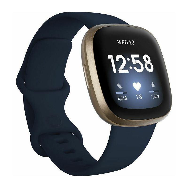 Pametni sat Fitbit Versa 3, Midnight/Soft Gold