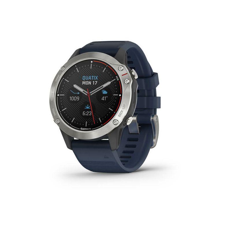 Pametni sat Garmin Quatix 6, sivi s modro plavim remenom
