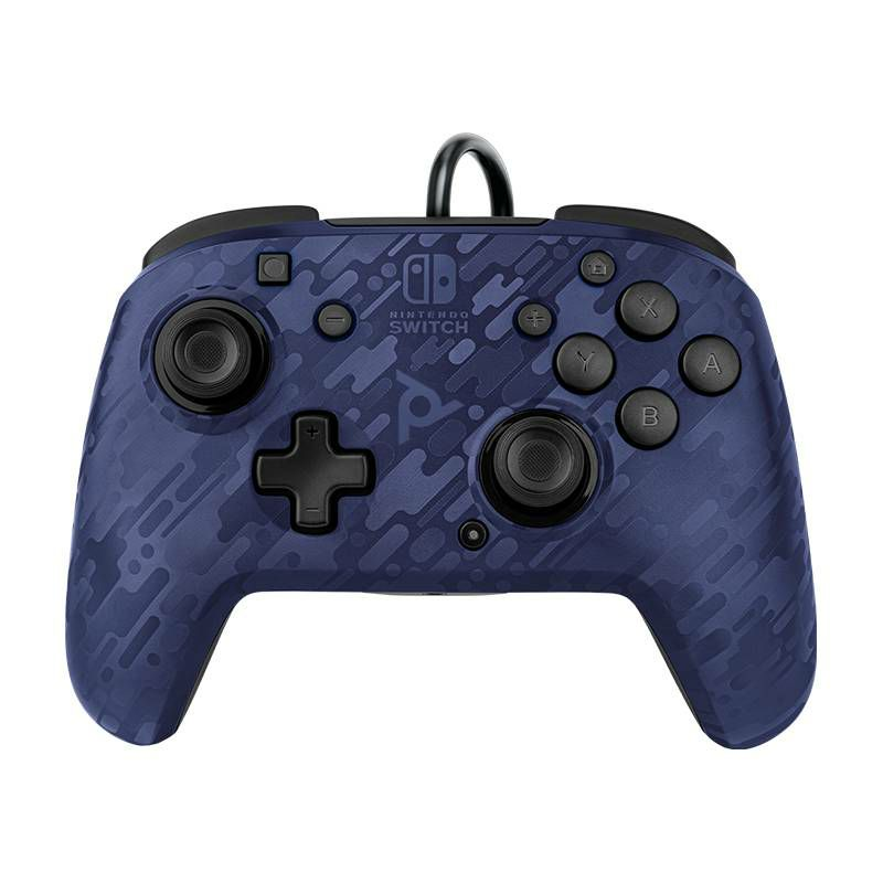 PDP NINTENDO SWITCH FACEOFF DELUXE CONTROLLER + AUDIO PDP CAMO BLUE
