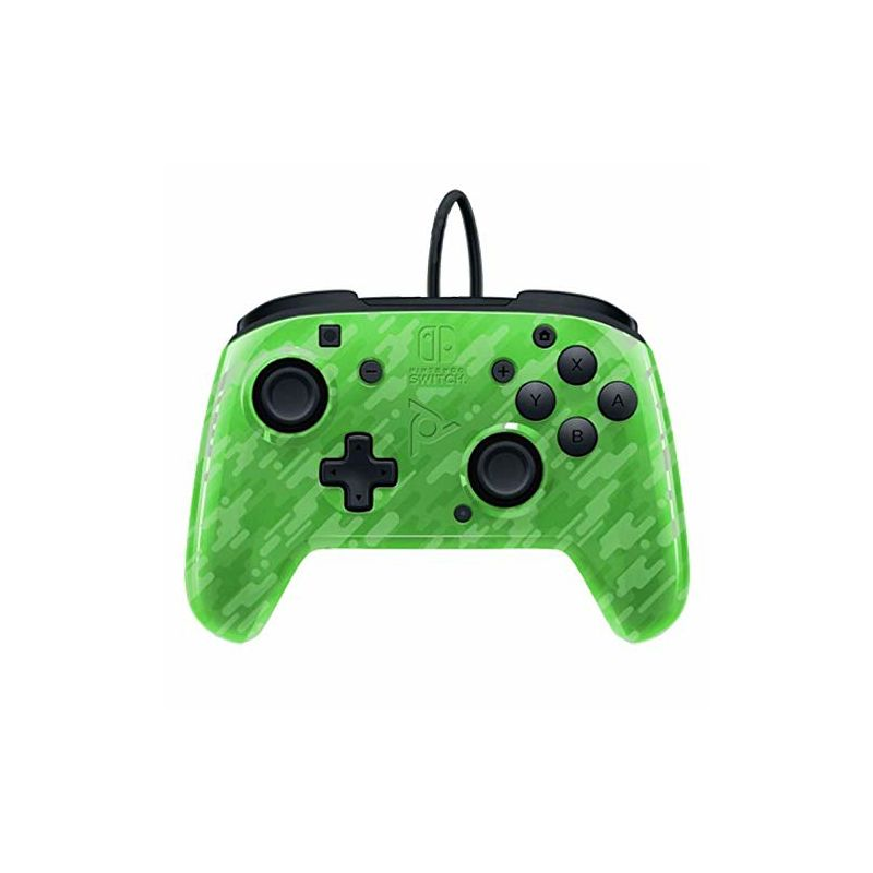 PDP NINTENDO SWITCH FACEOFF DELUXE CONTROLLER + AUDIO PDP CAMO GREEN