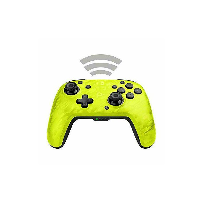 PDP NINTENDO SWITCH FACEOFF WIRELESS CONTROLLER CAMO YELLOW