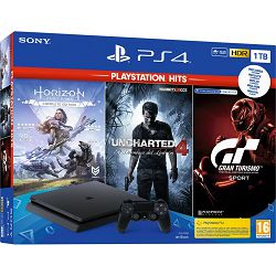 PlayStation 4 1TB F chassis + GT Sport + Horizon Zero Dawn CE + Uncharted 4 Hits