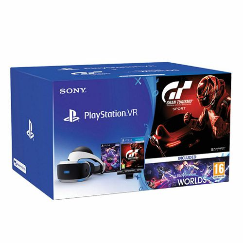 PlayStation VR+VR Worlds+Camera v2 + Gran Turismo Sport