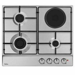 Ploča za kuhanje Amica PG61120R, kombinirana, 3 plin + 1 struja, inox