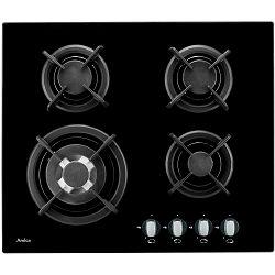 Ploča za kuhanje Amica PG64113SR, staklokeramika, 4 x plin, crna