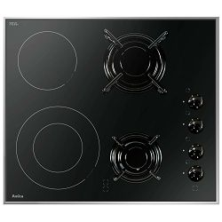 Ploča za kuhanje Amica VG 6021, staklokeramika, kombnirana 2 struja + 2 plin, crna
