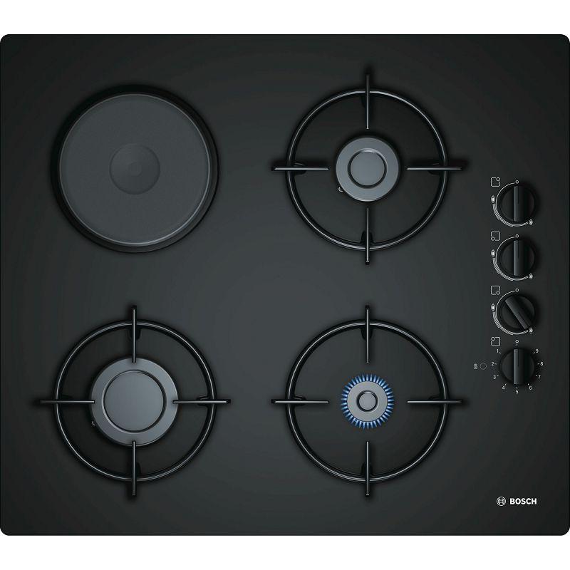 Ploča za kuhanje Bosch POY6B6B10, kombinirana, plinska