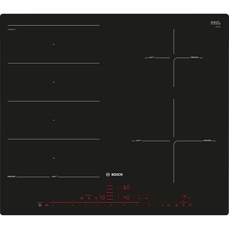 Ploča za kuhanje Bosch PXE601DC1E, staklokeramika, indukcija