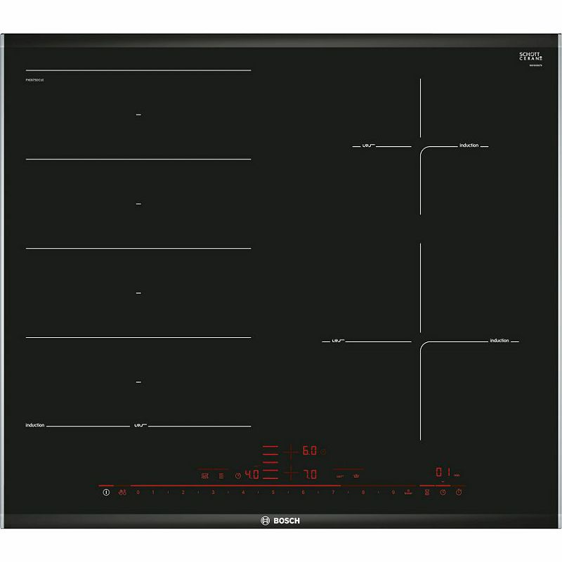 Ploča za kuhanje Bosch PXE675DC1E, staklokeramika, indukcija