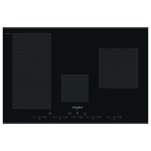Ploča za kuhanje Whirlpool SMC 774 F/BT/IXL, 77 cm, staklokeramika, crna