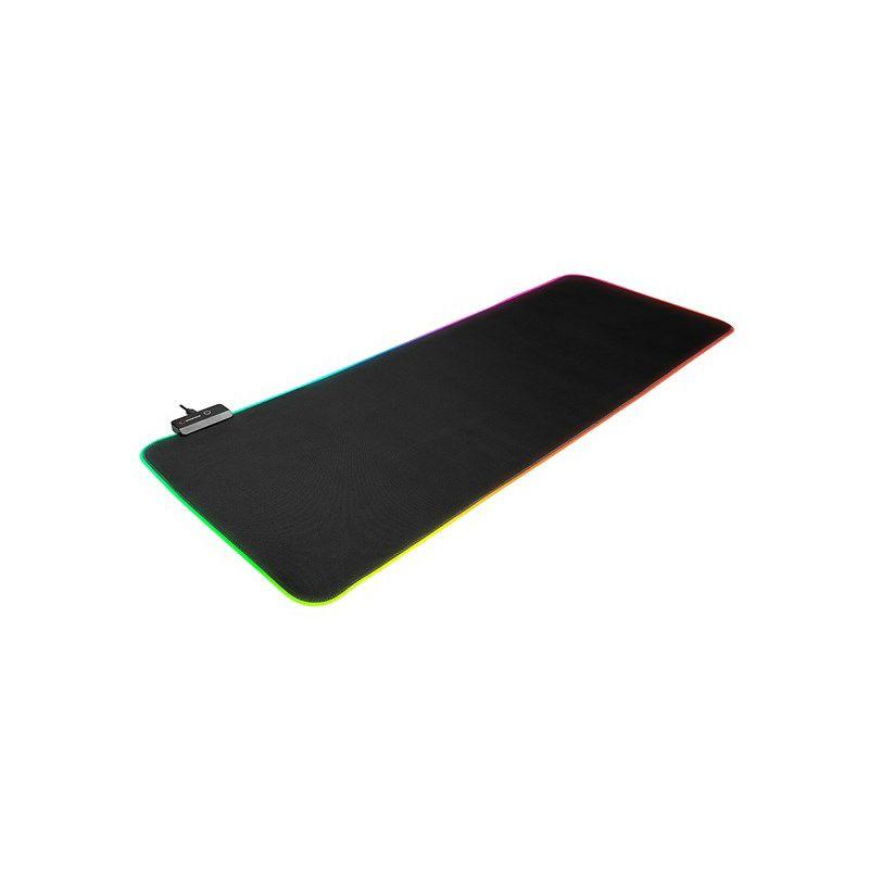 Podloga za miš RAMPAGE MP-22, XL, 300x800x3mm, RGB, crna