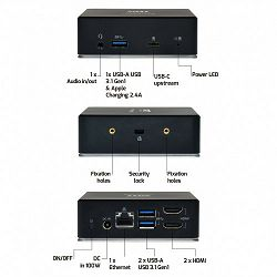 Port docking univerzalni office 2 X 2K USB-C&USB-A