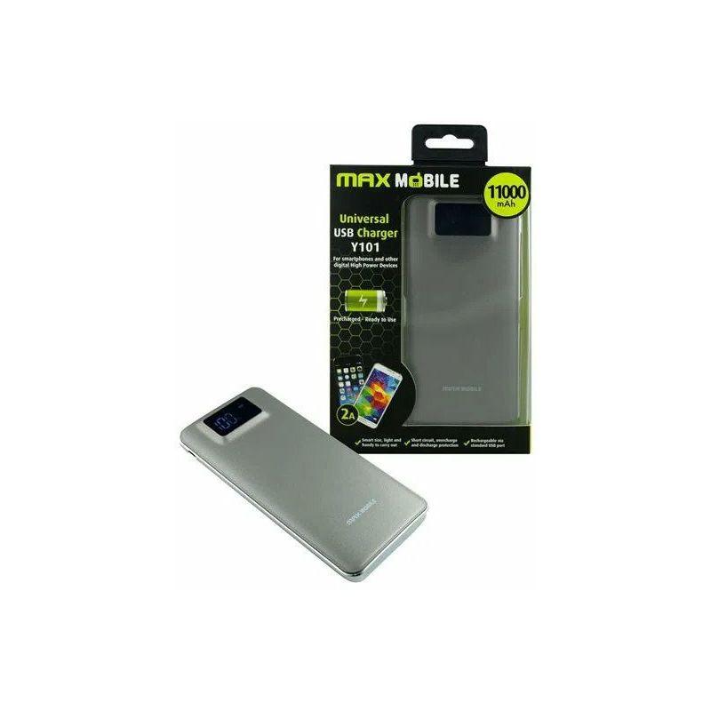 Power bank Y101 11000 mAh DUO 2.1, Max Mobile, srebrni