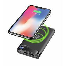 Prijenosni punjač Manta 8.000 mAh Wireless crna Cellularline
